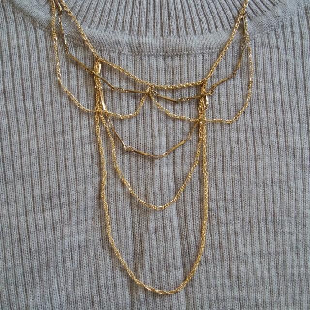PAPILLONNER(パピヨネ)のゴールドネックレス レディースのアクセサリー(ネックレス)の商品写真