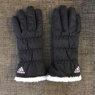 アディダス(adidas)のアディダス グローブ 手袋 フリース ボア 刺繍 滑り止め ナイキ プーマ(手袋)