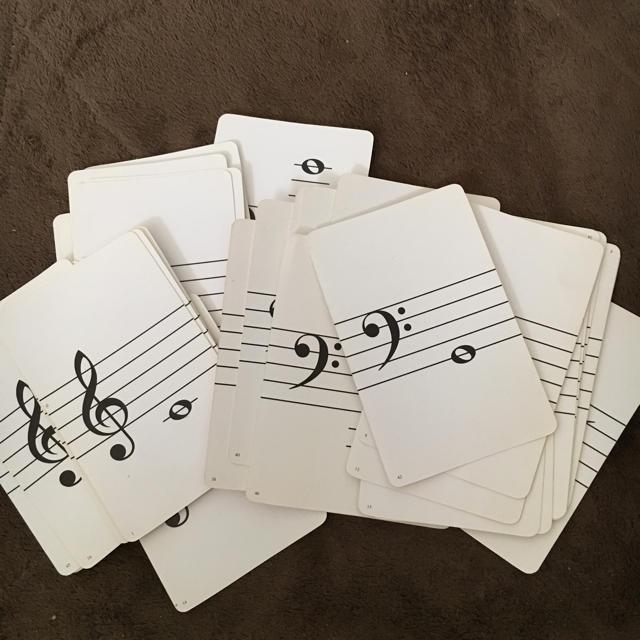 おんぷカード  48枚 5か国語の音名入り 楽器のスコア/楽譜(その他)の商品写真