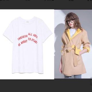 ミラオーウェン(Mila Owen)の2018年新作 二段ロゴTシャツ(Tシャツ/カットソー(半袖/袖なし))