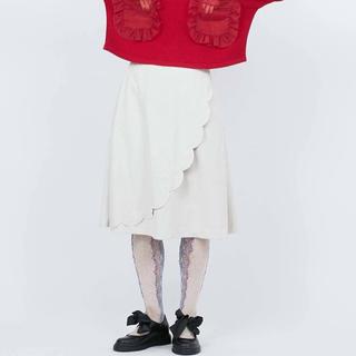 メリージェニー(merry jenny)のmerry jenny  スカラップスカート(ひざ丈スカート)