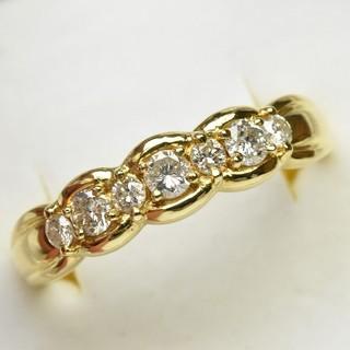 K18 ゴールド 大きいサイズ 0.50ct ダイヤモンドリング 20号(リング(指輪))