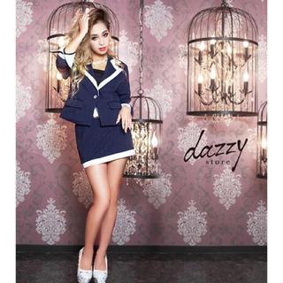 デイジーストア(dazzy store)のデイジーストア キャバスーツ ネイビー ミニ(スーツ)