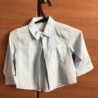 シマムラ(しまむら)のバースデイ ブルー コットンシャツ 80センチ(シャツ/カットソー)