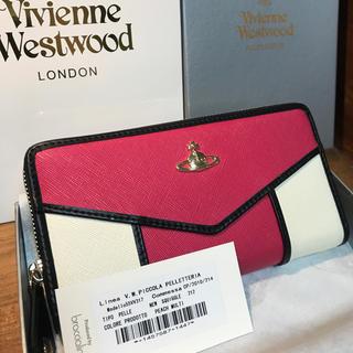 ヴィヴィアンウエストウッド(Vivienne Westwood)のヴィヴィアン 新品 未使用 長財布 ピンク ホワイト 白 レディース 正規品(財布)