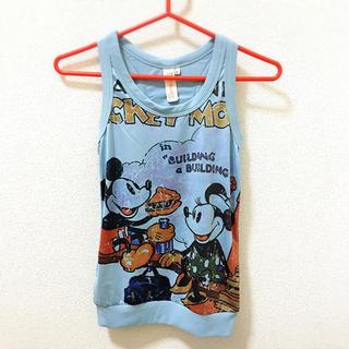ディズニー(Disney)のミッキーミニータンクトップ(ライトブルー)(タンクトップ)