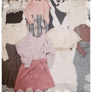 ダブルクローゼット(w closet)の秋冬ガーリー20着まとめ売りセット+刺繍ロングワンピース(セット/コーデ)