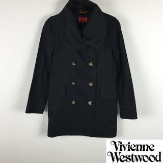 ヴィヴィアンウエストウッド(Vivienne Westwood)の美品 ヴィヴィアンウエストウッドレッドレーベル トレンチコート ブラック(トレンチコート)