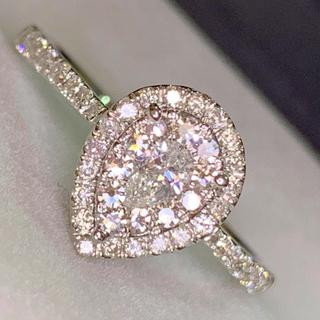 🌹らんらん様専用ページ🌹妖精の煌めきキラッキラ ペアシェイプ ダイヤリング(リング(指輪))