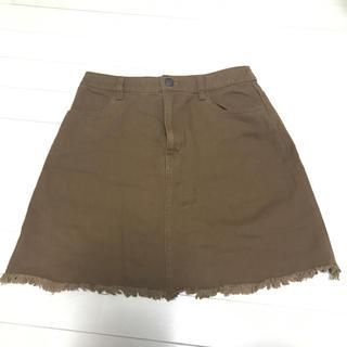 ローリーズファーム(LOWRYS FARM)のブラウンスカート(ミニスカート)