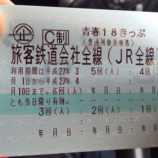 青春18きっぷ 残り一回!(その他)