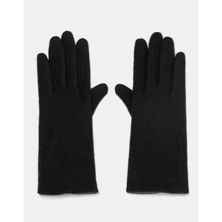 ザラ(ZARA)の新品 ZARA スマホ手袋 ウール78% ブラック(手袋)