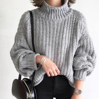 エイチアンドエム(H&M)の新品 H&M 大人気チャンキーニット XL(ニット/セーター)