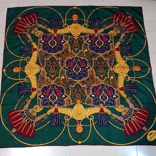 ロンシャン(LONGCHAMP)のLONGCHAMP PARIS シルクスカーフ 未使用  ロンシャン イタリア製(バンダナ/スカーフ)