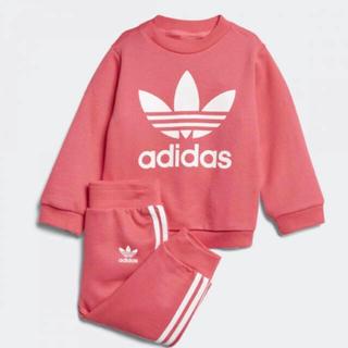 アディダス(adidas)の新品 アディダス スウェット 上下 セットアップ キッズ 90 ピンク(その他)