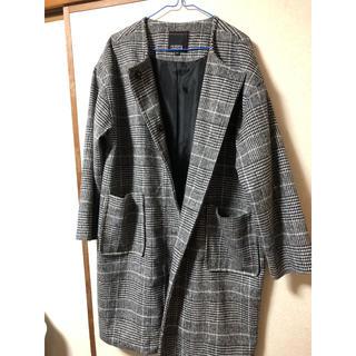 シマムラ(しまむら)のグレンチェック コート(ノーカラージャケット)