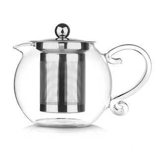 ティーポット 耐熱ガラス 宮廷風 家庭 お店用 (800ml)(電動式コーヒーミル)