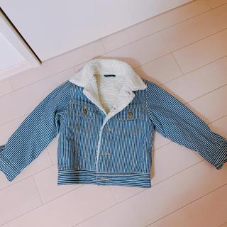 ジーユー(GU)のデニムボアジャケット 110センチ美品(ジャケット/上着)