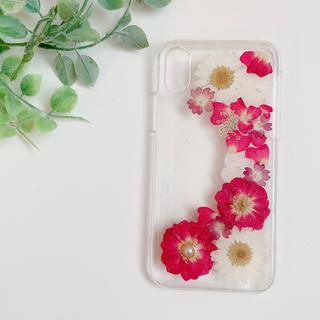 ミニバラ iPhoneX.Xs 押し花ケース(スマホケース)