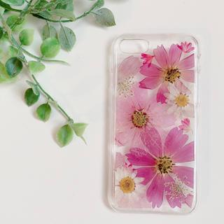 秋桜 iPhone6.6s.7.8 押し花ケース(スマホケース)