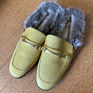 ジーユー(GU)のGU ファー ローファースリッパ(ローファー/革靴)