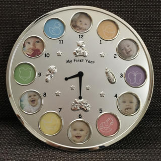出産祝い 時計 ラドンナ(フォトフレーム)