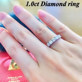 豪華!ダイヤモンド リング 1.0ct K18WG ジュエリーケース付き(リング(指輪))