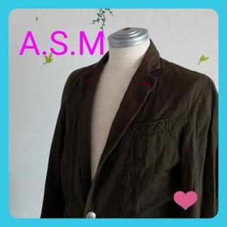 エイエスエム(A.S.M ATELIER SAB MEN)のA.S.M  カジュアル ジャケット 送料無料(ノーカラージャケット)