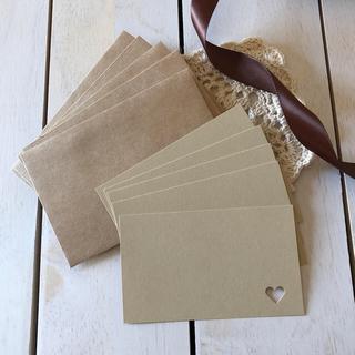 ムジルシリョウヒン(MUJI (無印良品))のクラフト ハートのメッセージカード(封筒付き)(カード/レター/ラッピング)