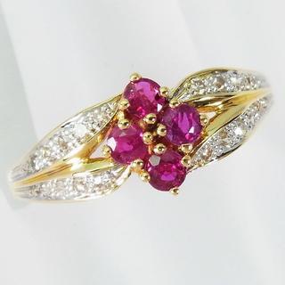 750 ルビー ダイヤモンド リング 14号 [f360-7](リング(指輪))