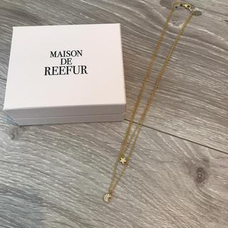 メゾンドリーファー(Maison de Reefur)の2連ネックレス ゴールド(ネックレス)