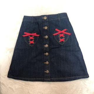 リズリサ(LIZ LISA)のLIZLISA♡デニムスカート(ひざ丈スカート)