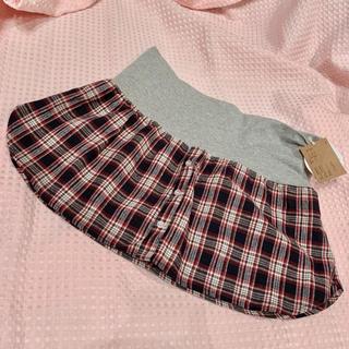 アベイル(Avail)の新品◆アベイル*チェックシャツ重ね着風にも♡シャツミニスカート(ミニスカート)