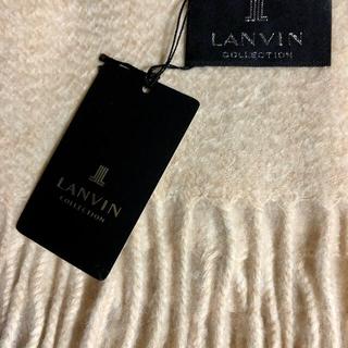 ランバンコレクション(LANVIN COLLECTION)のランバン カシミヤ 大判ストール ベージュ(ストール/パシュミナ)