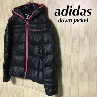 アディダス(adidas)の美品 adidas ダウンジャケット ブラック レディース S(ダウンジャケット)
