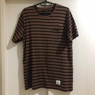 キツネ(KITSUNE)のmr.gentleman ボーダー T ブラウン 茶 ポケット付(Tシャツ/カットソー(半袖/袖なし))