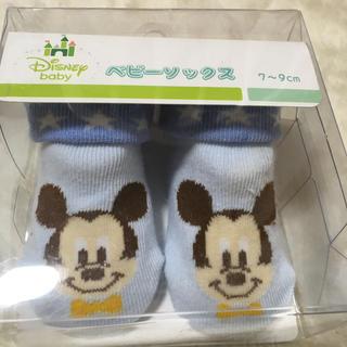 ディズニー(Disney)のミッキー ベビーソックス 7-9cm(靴下/タイツ)