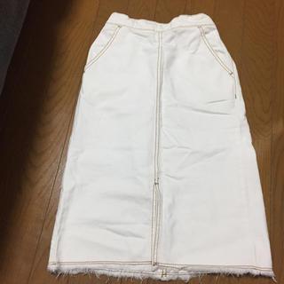 ジーユー(GU)のGU ホワイトデニムスカート(スカート)