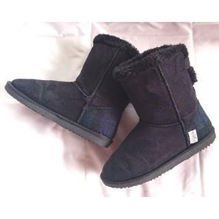 シマムラ(しまむら)の美品 しまむら ハリスツイード ブーツ Mサイズ 23cm 23.5cm(ブーツ)