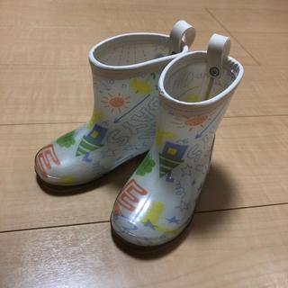 ブリーズ(BREEZE)のはる様専用  15cm  長靴  レインブーツ  白  らくがきイラスト(長靴/レインシューズ)