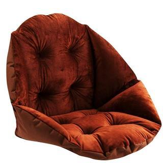 デスクワークに☆ 腰までぽかぽか!クッション座椅子 ブラウン (オフィスチェア)