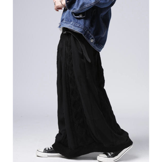 アンティカ(antiqua)のアンティカ 異素材切替スカート(ロングスカート)