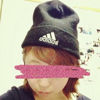 アディダス(adidas)のadidas   ニット帽♡(ニット帽/ビーニー)