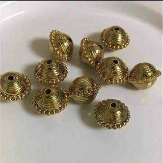 キワセイサクジョ(貴和製作所)のハンドメイド用 樹脂パーツ ゴールド10個(各種パーツ)