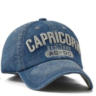 CAPRICORN  デニム キャップ  ウォシュ ブルー ユニセックス(キャップ)