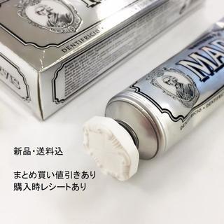 新品・値引き可能 85ml MARVISマービス歯磨き粉 白 ホワイトミント(歯磨き粉)