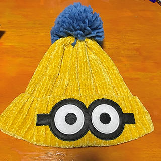 ユニバーサルスタジオジャパン(USJ)のミニオンのニット帽(ニット帽/ビーニー)