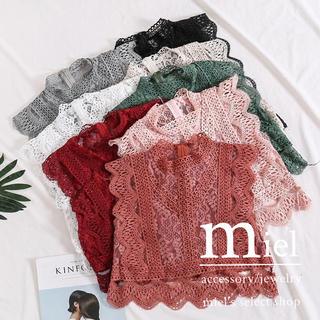 ザラ(ZARA)の全8種 lace tops(シャツ/ブラウス(半袖/袖なし))