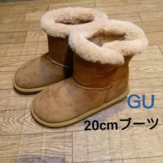 ジーユー(GU)の【20㎝】GU♡モコモコブーツ(ブーツ)