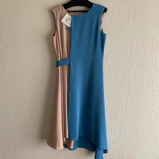新品タグ付き✳リルフェテ バイカラー アシンメトリー ワンピース ドレス
